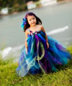 Ribbon, felt and tule child's dress.  Enchantingly beautiful!