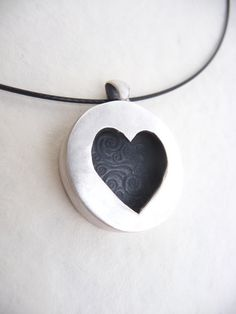 Valentine's silver heart pendant by DreamofaDream on Etsy, $75.00
