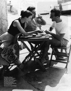 1950's Italy by Regina Relang: Model Joan Olsen and with friend on the island of Ischia, photo by Regina Relang, 1953