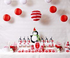 Cocoa & S'mores Penguin Holiday Party - Kara's Party Ideas - The Place for All Things Party