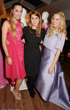Princess gowns: (L-R) Amber Le Bon joins Princess Beatrice of York and Alice Naylor Leyland for Toujouri's SS15 preview