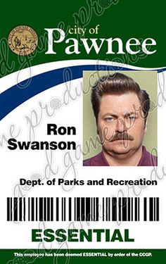 Parks and Recreation ID Badge - Ron Swanson [PVC & Screen Accurate] - Version 2 by GoodGameProductions on Etsy