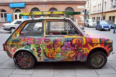 Graffiti Fiat Art Car