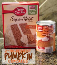 2-Ingredient Pumpkin Cupcakes #halloween #recipes #mommysavers  This looks delicious! Might not be able to wait until Halloween!  Love this!!! I made it once last year and it was soooo yummy! It tasted like Fall, I'm not a huge fan of pumpkin desserts, still it was delicious! :)