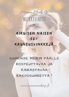 Meikkivinkki Aikuinen Nainen 50+ Insta Story, Instagram