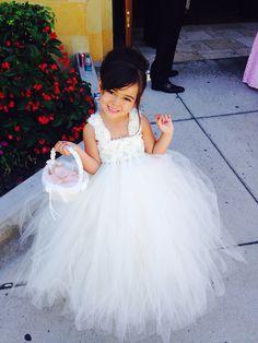e31feab80ae Ivory off white Flower Girl Tutu Dress Shabby Chic Tulle Dress Wedding Dress  Birthday Dress Toddler Tutu Dress Morden Wedding