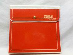 Vtg Retro 80's Original Red Snap Button Trapper Keeper School Folder Binder   eBay