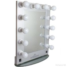 """The must have makeup mirror!  Our """"Hollywood Glam Mirror"""" in Silver #vanitylights #glamsession #vanitymirror"""
