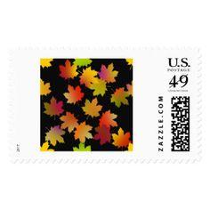 Leaves on Postage Stamp