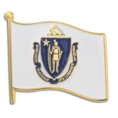 Massachusetts State Flag Pin . $3.95