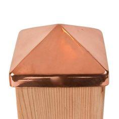 Jaki Jorg 6 in. x 6 in. Copper Pyramid Slip Over Fence Post Cap e65116b6d7be