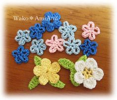 イメージ 1 Crochet Earrings, Leaves, Dolls, Mini, Flowers, Baby Dolls, Puppet, Doll, Royal Icing Flowers