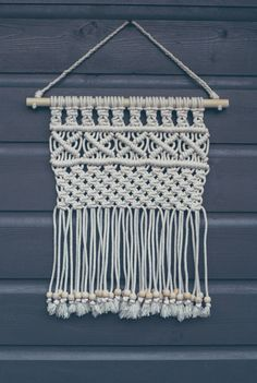 Ideal Mini Macrame Wall Hanging Modern Macrame by MiniSwells on Etsy