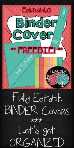 FREE Binder Cover Ki
