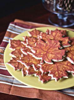 Maple Leaf Cookies.