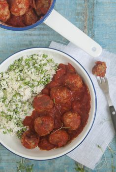 Spicy Meatballs with Cauliflower Couscous