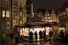Bratwurststand auf dem Bremer Weihnachtsmarkt
