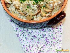 Risotto ai funghi champignon, semplice e rapido  #ricette #food #recipes