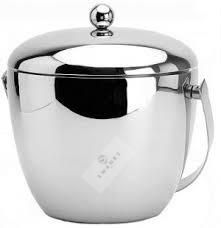 Swanky 100% Stainless Steel Apple Ice Bucket Double Walled Insulated with Glossy Surface & Stylish design Bar Accessories, Rice Cooker, Bucket, Surface, Kitchen Appliances, Stainless Steel, Apple, Stylish, Design