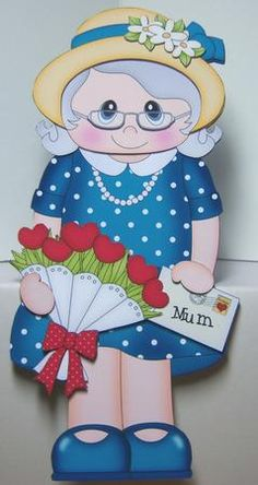 Card Gallery - 3D On the Shelf Card Kit - Gossip Galz Mum Florie's Flowers