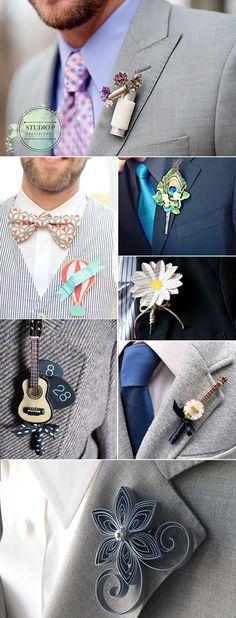No olvides los accesorios del novio!