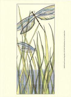 Small Gossamer Dragonflies I (P) Fine-Art Print by Chariklia Zarris at UrbanLoftArt.com