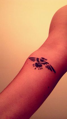 Thunderbird tattoo . Native tribal tattoos - means freedom in native american