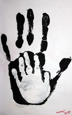 Mommy & me hand prints...jackie and beth