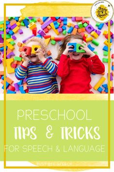 Learn these easy tips and tricks for preschool speech therapy!