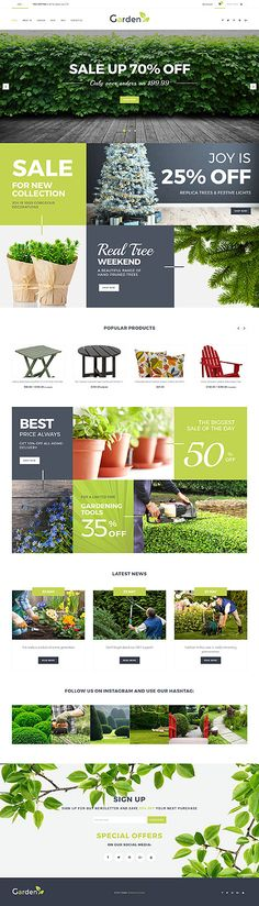 Gardening Online Store #Shopify #template. #themes #business #responsive #webshop #Shopifythemes
