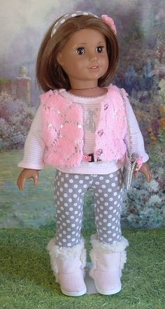 Pink and Grey 6 piece outfit For American Girl by MyGirlClothingCo, $32.00