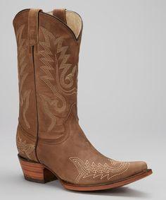 Bonanza Boots Latigo Gray Leather Cowboy Boot | zulily