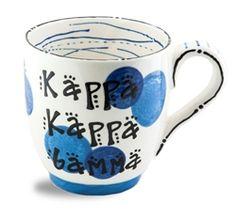 Kappa Kappa Gamma Ceramic Dot Mug
