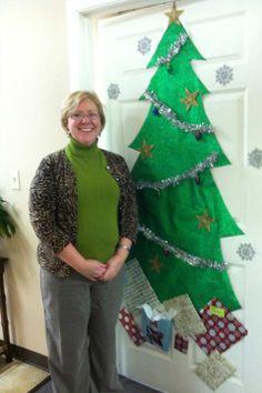 Jennifer and her Christmas Tree door