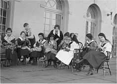 Tremlett students in the 1920s participate in the first known guerrilla knitting group