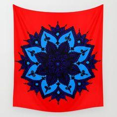 Kids Mandala Purple Wall Tapestry by azima Purple Walls, Orange Walls, Wall Tapestries, Tapestry, Ipad Tablet, New Age, Hand Sewn, Vivid Colors