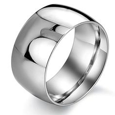JSDY Stainless Steel Silver Wide Polished Mens Toe Promise Bands Rings 115mm 10 * Click image to review more details.(This is an Amazon affiliate link and I receive a commission for the sales)