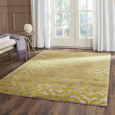 Safavieh Porcello Light Grey/ Green Rug (8'2 x 11')