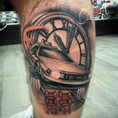 "24 ""Back To The Future"" Tattoos That Will Blow Your Mind"