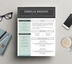 stylish resume template free cover letter for ms word and iwork pages by this paper fox resume resumetemplate creativeresume resumedesign pr