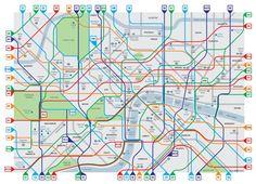 Plan des pistes cyclables de Londres par Simon Parker