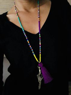 Beaded Lanyard For Women Lanyard Keychain Beaded Lanyard Lanyard Necklace, Lanyard Keychain, Diy Necklace, Tassel Necklace, Beaded Jewelry Designs, Unique Jewelry, Beaded Lanyards, Biscuit, Chokers