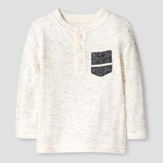 Baby Boys' Henley T-Shirt Baby - Cat & Jack™ - Cream White : Target