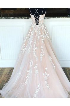 onlybridals long prom dress of champagne tulle lace, formal dress of champagne tulle,onlybrid. - onlybridals long prom dress of champagne tulle lace, formal dress of champagne tulle, Source by - Princess Prom Dresses, Cute Prom Dresses, Dream Wedding Dresses, Pretty Dresses, Beautiful Dresses, Wedding Gowns, Elegant Dresses, Sexy Dresses, Prom Gowns