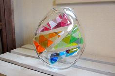 Glass Studio BiBi*モザイク花器大*A