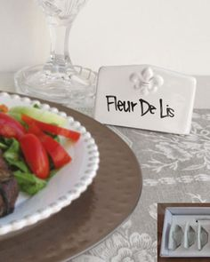 """""""Fluer"""" Place Cards at Horchow."""
