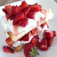 """Cottage Pudding (Cake for Strawberry Shortcake) I """" Outstanding!! It's sorta like a cross between a sponge cake and pound cake, not one or the other but both somehow."""""""