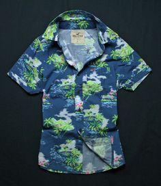【楽天市場】ホリスター メンズ ボタンダウン 半袖 総柄 アロハ シャツ Hollister 325-0052-020-aloha【あす楽対応_近畿/その他の地域も対応中】:Brand shop napple