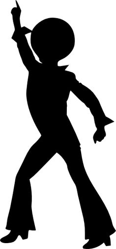 Disco Dancing Male Clip Art at
