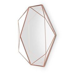 Umbra Prisma Decorative Wall Mirror - Modern Geometric Shaped Oval Mirror Wall Decor for Bedroom, Bathroom, Living Room, Dining Room, Copper Copper Mirror, Oval Mirror, Copper Wire, Mirror Art, Rose Gold, Or Rose, Spiegel Design, Design3000, Cage Pendant Light